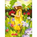 DIY ぬり絵 大人の油絵(塗り絵)/絵画商品名:女の子【油絵具セット付】