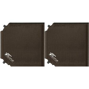 1年保証 エアークッション 2個セット 35×35cm 厚さ 5cm 2way 自動膨張 アウトドア クッション 座布団 エアーピロー エアピロー 枕 空気枕 携帯枕 車中泊マット オフィス キャンプ コンサート 野外