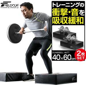 1年保証 ダンベル マット クッション 2個セット 防音 キズ防止 衝撃吸収 ダンベルミット ダンベルトレーニング バーベルトレーニング 筋トレ トレーニング ウェイトトレーニング シェイプア