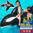 1年保証 フロート クジラ 浮き輪 ジャンボ ホエールライダー 200cm 大型 取っ手付 電動ポンプ 空気入れ くじら型フロ…