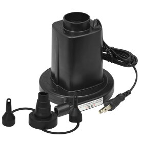 1年保証 電動ポンプ 電動エアーポンプ 電動 ポンプ 空気入れ AC電源 100V 家庭用 コンセント 吸気 排気 給排気 簡単 便利 FIELDOOR ●[送料無料]