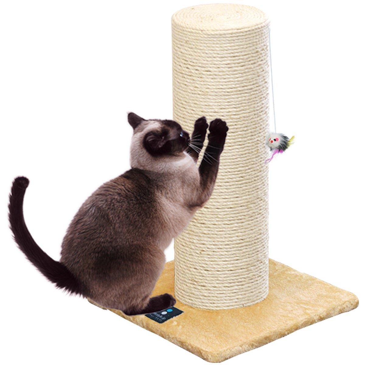 〈1年保証〉爪とぎ 猫 ねこ 麻 綿 縄巻き 直径 20cm 極太 ポール つめとぎ ネコ 爪とぎポール 爪研ぎ 爪みがき キャットツリー ミニ 据え置き 猫タワー 猫用品 ペット用 おもちゃ お手入れ 猫カフェ[送料無料][あす楽]
