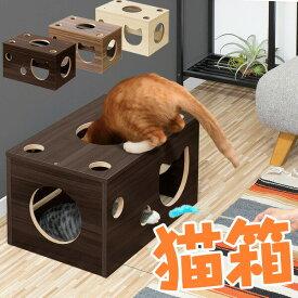 1年保証 猫 おもちゃ 猫箱 ボックス ベッド 遊び ねこ ネコ 玩具 オモチャ 小屋 室内 ストレス発散 運動不足 対策 多頭飼い シニア キャット 猫用 猫ベッド ペット用品 ペットグッズ ●[送料無料]