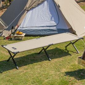 1年保証 アウトドア 折りたたみ ベッド コット ベンチ レジャーコット T/C ポリコットン 枕 ピロー チェア 椅子 イス キャンプ [約]190cm x 69cm x 40cm 荷物置き 簡易ベッド キャンプ用 寝具 outdoor cot 組立 設置 簡単 FIELDOOR ●[送料無料]