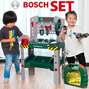 1年保証 工具 + ミニカー セット BOSCH ボッシュ ミニワークベンチ + グランプリケース おもちゃ ままごと おままごと 工具 知育玩具 子供用 組み立て 車 F-1 ミニカー トイカー 模型 ツールボッ