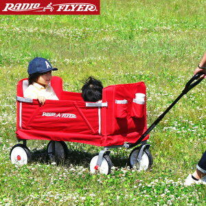 1年保証 Radio Flyer ラジオフライヤー 3-in-1 イージーフォールドワゴン 3950 2人乗り キャリーワゴン キャリーカート ベンチ 台車 折りたたみ 乗用玩具 レジャー ピクニック 室内 外 外遊び おも