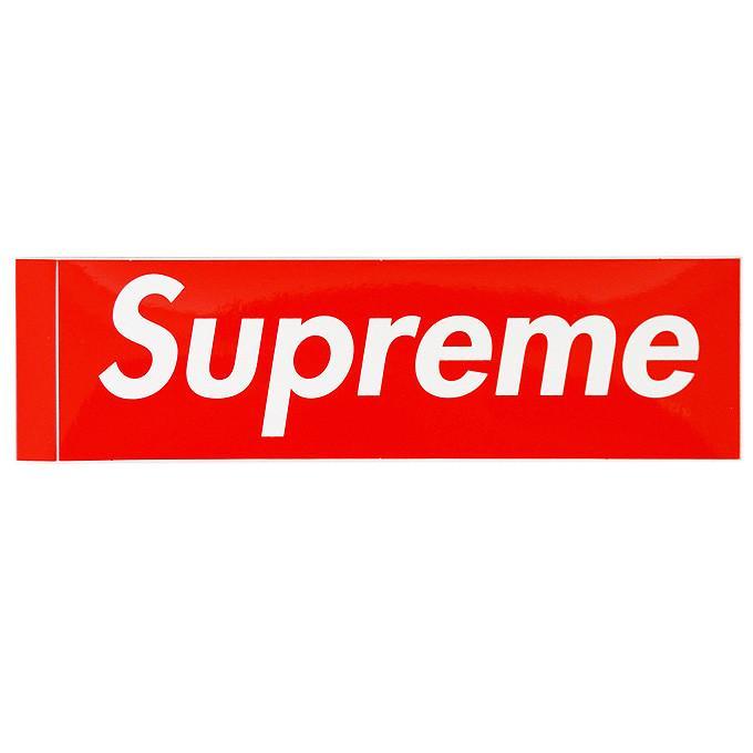 Shupreme シュプリーム Box Logo ステッカー 正規品 1枚 サイズ 5.7cm X 19cm