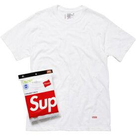 Supreme Hanes Crew Tシャツ (1枚)Supremeのパーケージはついていません。