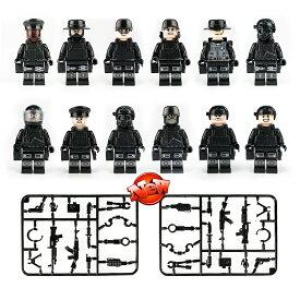 ブロック ミニフイグ SWAT12体 武器とボートセット ブロック互換品 プレゼント 入学プレゼント 入学お祝い クリスマスプレゼント 知育玩具 おもちゃブロック