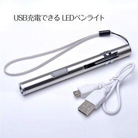 【メール便送料無料】 USB充電できるLEDペンライト 懐中電灯 災害 アウトドア 明るい ライト LED USB 小型 軽量 sale レディース タイムセール 売れ筋