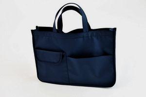 紺色ナイロン製レッスンバッグ【お受験バッグのハッピークローバー】【あす楽対応商品】【05P26Mar16】
