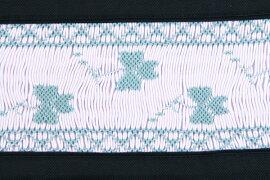 59f9aa1aa6fb7 スモッキング手刺繍レッスンバッグクローバー お受験バッグの○ハッピークローバー   拡大画像