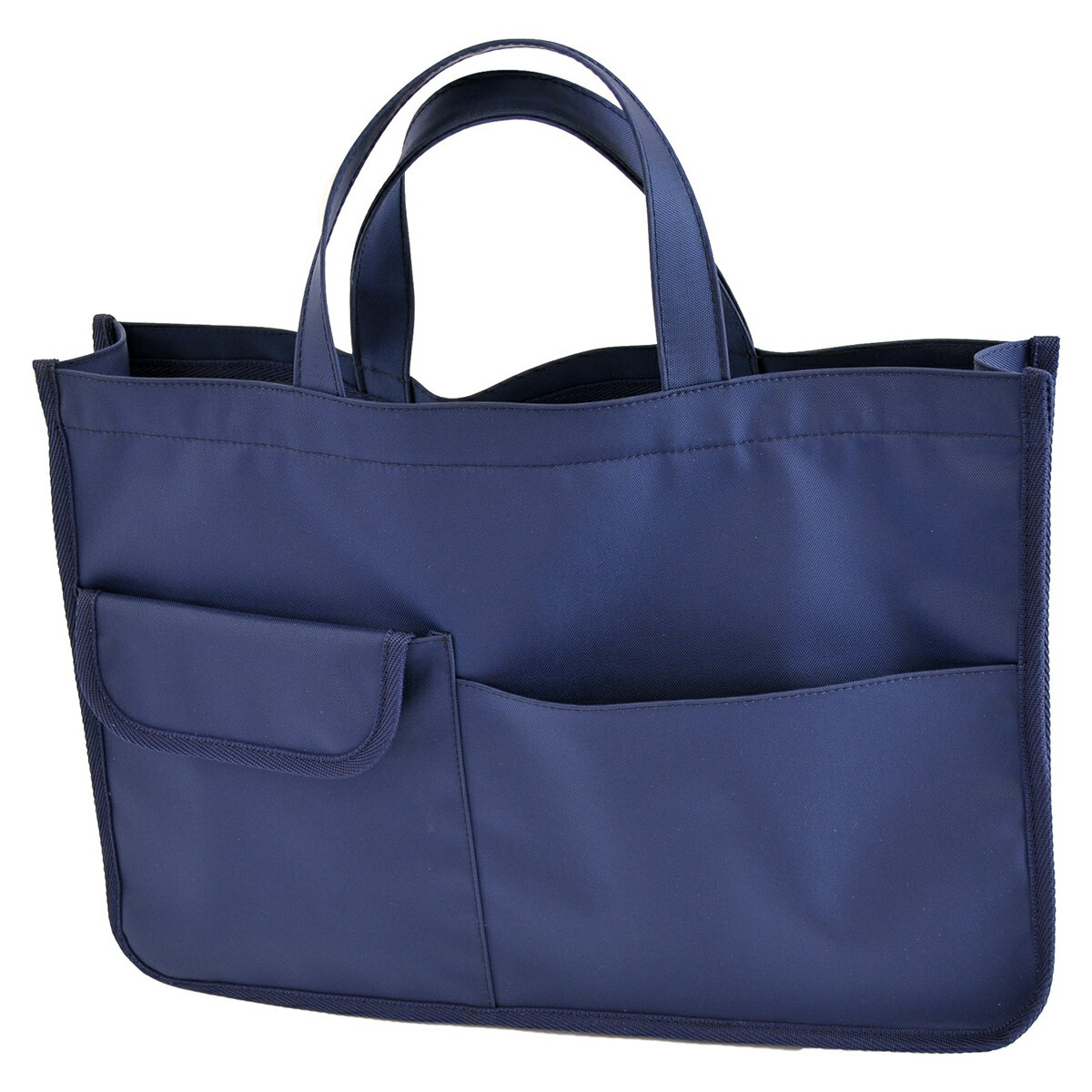 紺色ナイロン製レッスンバッグ【お受験バッグのハッピークローバー】【あす楽対応商品】