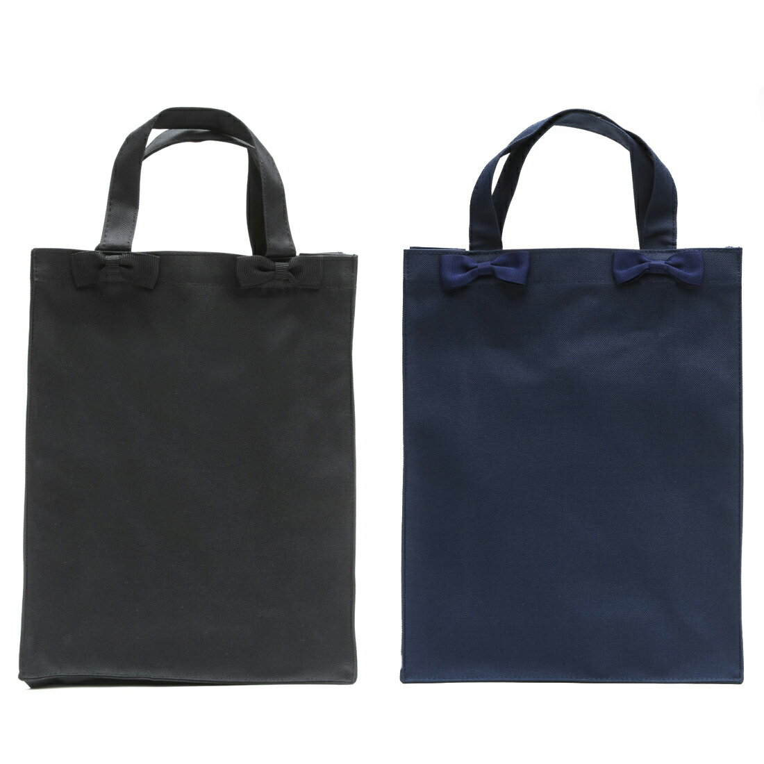 お受験 バッグ 【縦型】リボン サブバッグ【Mサイズ】【紺/黒】お受験/面接/学校説明会/フォーマル【あす楽】