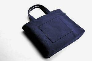 日本製 紺色布製レッスンバッグ【中】【お受験バッグのハッピークローバー】【あす楽対応商品】