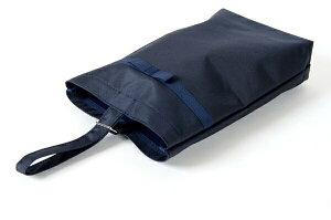 【リボン付き】紺色ナイロン製 :お子様用シューズバッグ【タイプB】【あす楽】