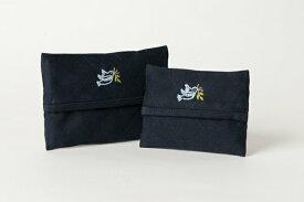 手刺繍【青い鳥】ティッシュケース 【2サイズ】【お受験用品の店●ハッピークローバー】【あす楽対応商品】