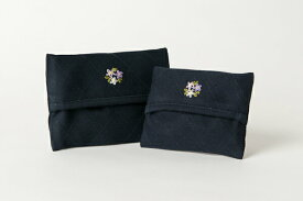 手刺繍【お花】ティッシュケース 【2サイズ】【お受験用品の店●ハッピークローバー】