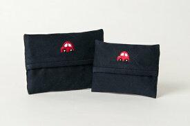 手刺繍【車・赤】ティッシュケース 【2サイズ】【お受験用品の店●ハッピークローバー】【あす楽対応商品】