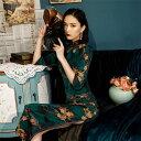 チャイナドレス スリット セクシー 花柄 チャイナ風 ワンピース エレガント パーティードレス 成人式 レディース 花嫁…