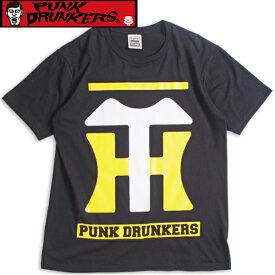 PUNK DRUNKERS パンクドランカーズ Tシャツ【PDSx阪神タイガース】阪神ロゴTEEBLACK