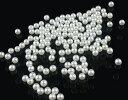 (100個)ABS製 パールビーズ 穴なしパールビーズ 1.5mm 2mm 2.5mm 3mm パールホワイト デコ ネイル アクセサリー作り…