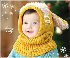 ニット帽 赤ちゃん ベビー キッズ 子供帽子 女の子 男の子 子供 防寒 帽子 冬 こども ニット帽子 かわいい ニット帽子 子ども 子供 ヒツジ 耳付き ネックウォーマー帽子 スヌード 帽子 こども 子供 ネックウォーマー ベビー帽子 マフラー