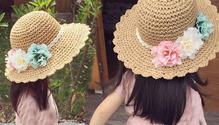 子供 帽子 夏 女の子 ペーパーハット 子供 麦わら帽子 リゾート 帽子 キッズ 子供 リゾート帽子 キッズ