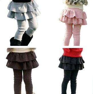 小孩sukattsuregisuka女人的孩子小孩底童裝regisuka小孩sukattsu女人的孩子2段褶邊裙子