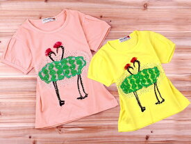 子供服 Tシャツ 女の子 半袖 子供 Tシャツ 子供服 半袖 Tシャツ デザイン ラインストーン ソフトなコットンジャージー素材の半そでトップス