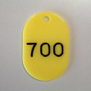 【ポイント20倍】(まとめ) 番号札 クラウン 番号札 小判型・スチロール製 黄色 CR-BG38-Y ●欠番 小●縦45×横30mm 1枚【100×セット】
