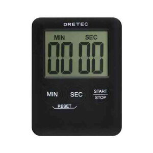 【ポイント20倍】DRETEC デジタルタイマー ポケッティ 薄さ9mmコンパクトなポケットサイズ T-307BK