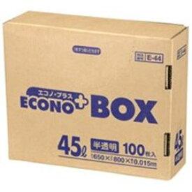 【ポイント20倍】(まとめ)日本サニパック エコノプラスBOX E-44 半透明 45L 100枚【×5セット】