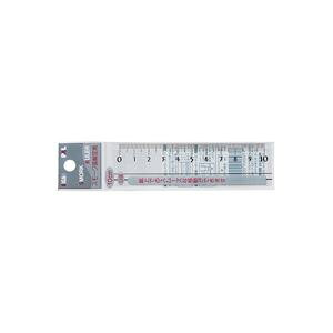 【ポイント20倍】(業務用20セット)西敬 スモーク定規(ものさし/スケール) 10cm RSR-10B