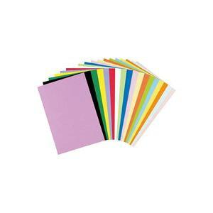 【ポイント20倍】(業務用5セット)リンテック 色画用紙R/工作用紙 【A4 50枚】 レモン