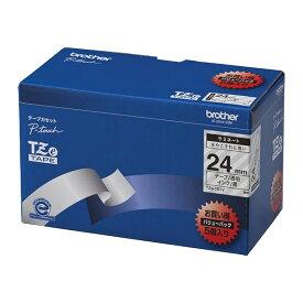【ポイント20倍】ブラザー工業 TZeテープ ラミネートテープ(透明地/黒字) 24mm 5本パック TZe-151V