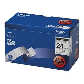 【ポイント20倍】ブラザー工業 TZeテープ ラミネートテープ(白地/黒字) 24mm 5本パック TZe-251V