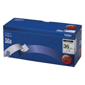 【ポイント20倍】ブラザー工業 TZeテープ ラミネートテープ(白地/黒字) 36mm 5本パック TZe-261V