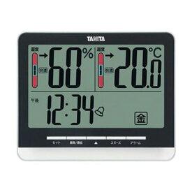 【マラソンでポイント最大43.5倍】(まとめ)タニタ 温湿度計 ブラックTT-538BK 1個【×3セット】