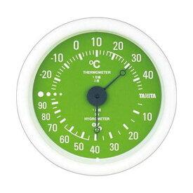 【マラソンでポイント最大43倍】(まとめ)タニタ アナログ温湿度計 グリーンTT-515-GR 1個【×10セット】