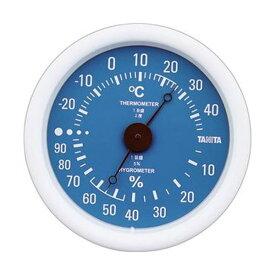 【マラソンでポイント最大43倍】(まとめ)タニタ アナログ温湿度計 ブルーTT-515-BL 1個【×10セット】