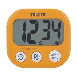 【ポイント20倍】(まとめ)タニタ でか見えタイマーアプリコットオレンジ TD-384OR 1個【×20セット】