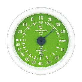 【マラソンでポイント最大43倍】(まとめ)タニタ アナログ温湿度計 グリーンTT-515-GR 1個【×5セット】