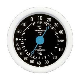 【マラソンでポイント最大43倍】(まとめ)タニタ アナログ温湿度計 ブラックTT-515-BK 1個【×5セット】