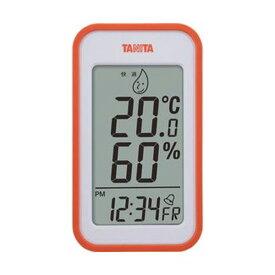 【マラソンでポイント最大43.5倍】(まとめ)タニタ デジタル温湿度計 オレンジTT559OR 1個【×5セット】