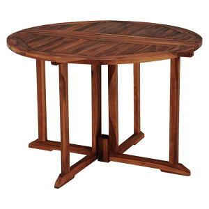 【ポイント20倍】フォールディングテーブル/折りたたみテーブル 【円形 幅110×奥行110×高さ76cm】 木製 オイル仕上げ 〔リビング〕【代引不可】