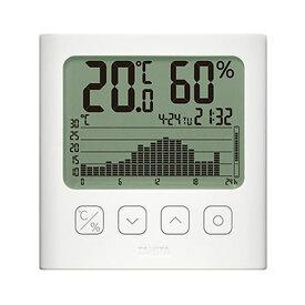 【マラソンでポイント最大43倍】タニタ グラフ付きデジタル温湿度計ホワイト TT-580-WH 1個