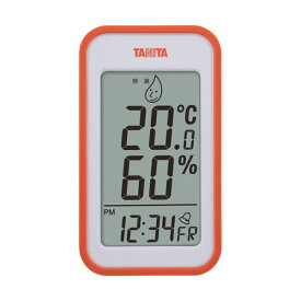 【マラソンでポイント最大43倍】(まとめ)タニタ デジタル温湿度計 オレンジTT559OR 1個【×2セット】