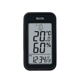 【マラソンでポイント最大43倍】TANITA デジタル温湿度計 ブラック 100-04G【代引不可】