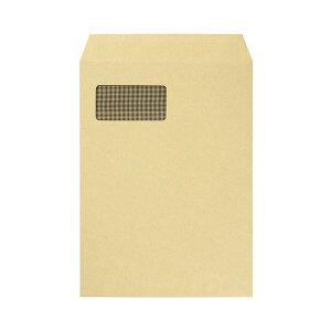 【ポイント20倍】(まとめ) TANOSEE A4窓付クラフト封筒テープのり付 裏地紋付 1パック(100枚) 【×2セット】